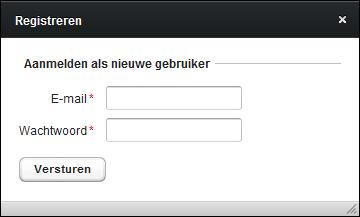 Registratiescherm